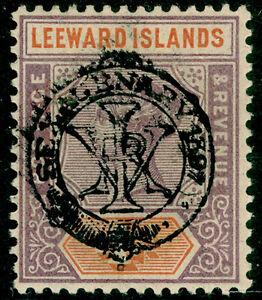 LEEWARD ISLANDS SG12, 4d dull mauve & orange, VLH MINT. Cat £55.