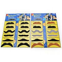 Novelty Black And Colorful Fake Mustaches Funny Toy For Boys Girls And Teen YAN