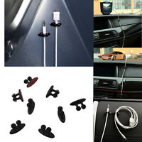 8Pcs Auto Car Charger Line Headphone USB Cable Car Clip Interior Accessories