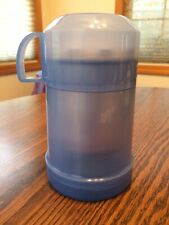 Thermos Insulated 10 Oz Food/ Soup Jar Plastic Blue/White!