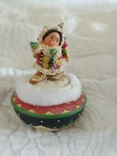 "Friends Of A Feather Trinket Box ""Presence Of Spirit "" Santa With Bag Of Toys"