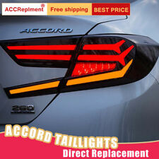 For Honda Accord LED Taillights Assembly Dark/Red LED Rear Lamps 2018 2019 2020