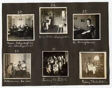 Foto Albumseite Dresden 1920 1921 Nürnberger Straße 6 Wohnung Inneneinrichtung