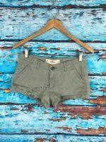 Hollister Women's Mini Stretch Light Green Shorts Size 00
