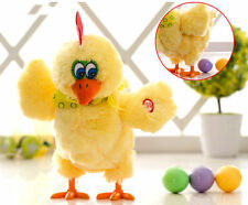Kinglang Laying Eggs Chicken Plush toy Electric Hen Musical Dancing Funny Gifts