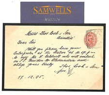 MS2526 1895 ITALIA spedizioniere CARD NAPOLI * Thomas Cook * Carta intestata BRINDISI