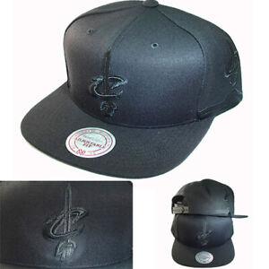 Mitchell & Ness Cleveland Cavaliers Snapback Hat Team Jersey Diamond Pattern Cap