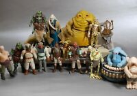 VINTAGE Star Wars COMPLETE JABBA THE HUTT PLAYSET + MAX REBO BAND & FIGURES LOT