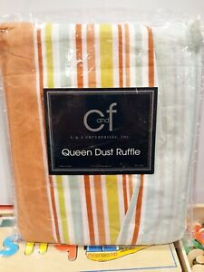 C & F Enterprises Striped Queen Dust Ruffle