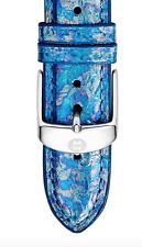 MICHELE 16mm Snakeskin Watch Strap Mirage Blue 35240