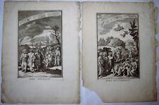 François CHAUVEAU 2 ANCIENNES GRAVURES PARS AUTUMNALIS HIEMALIS BREVIAIRE XVIIè