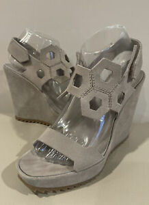 Pedro Garcia Wedge Suede Cutout Sandals 39