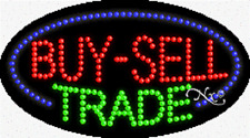 """NEW """"BUY-SELL TRADE"""" 27x15 OVAL SOLID/ANIMATED LED SIGN w/CUSTOM OPTIONS 24166"""