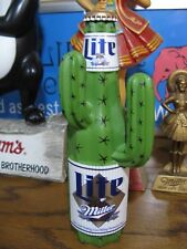 NEW VTG 1995 MILLER LITE BEER 3-D OASIS HIGH LIFE CACTUS TAP HANDLE TAPPER KNOB