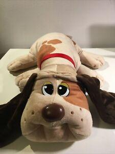 "Pound Puppy Dog Plush Stuffed Animal Large 18"" Tan Puppy W/Spots adoption papers"
