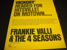 Frankie Valli & Four Seasons Hickory headed for Hitsville 1974 Promo Poster Ad