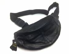 Reise-/Sport-Bauchtasche aus Nappa-Leder mit 4 Fächern (Hüfttasche; Gürteltasche