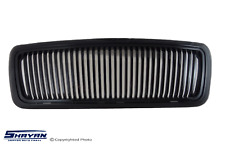 FITS:  DODGE RAM 2002 2003 2004 2005 VERTICAL FRONT GRILLE BLACK