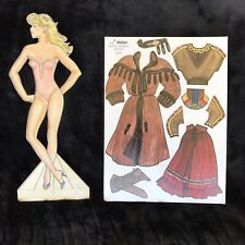 Margit Brant Fashion Paper Doll Female peel and stick clothes reposition-able