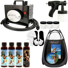SALON PRO Sunless Airbrush SPRAY TANNING KIT Machine 4 Simple Tan Solution Tent