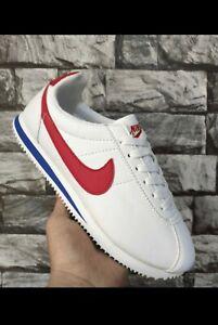 """Nike Cortez classic Homme 43 EU blanc / rouge/ bleu """"Forrest Gump"""""""
