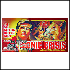 "Fridge Fun Refrigerator Magnet SIX MILLION DOLLAR MAN ""BIONIC CRISIS"" 70s Retro"