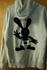 UT Uniqlo Disney Oswald Hoodie The Lucky Rabbit Gray Sweatshirt Extra Large