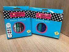 Magic Marker & Stamp Stamper Set di penne KID'S Art Craft creare Scuola
