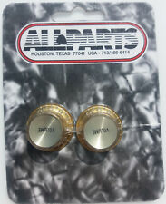 Gold Reflector Volume Knobs for Gibson, Les Paul, and Epiphone Guitars