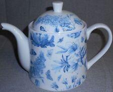 Portmeirion BOTANIC BLUE PATTERN Teapot w/Lid NICE!