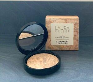 Laura Geller 🌟 Baked Balance n GLOW Illuminating Foundation 🌟 Medium 8g Boxed