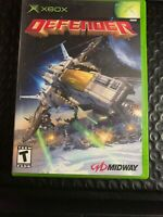 DEFENDER XBOX COMPLETE IN BOX W/ MANUAL CIB VERY GOOD