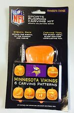 Minnesota Vikings Halloween Pumpkin Carving Kit New! Stencils for Jack-o-latern
