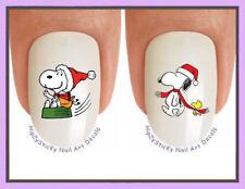 Nail Decals #824X CHRISTMAS Snoopy 5 Holiday Santa WaterSlide Nail Art Transfers
