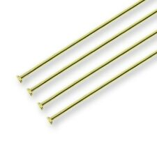 50mm Headpins - Gold Plated - 100pk
