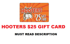 "Hooters - $25.00 ""MUST READ DESCRIPTION"" ""DIGITAL ITEM"""