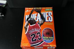 1998 Michael Jordan Empty Wheaties Cereal Box Chicago Bulls Basketball #23