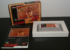 Nintendo Super Snes Indiana Jones Greatest Adventures PAL EUR CIB Complete