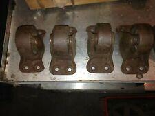 Vintage Steel Amp Cast Iron Industrial Caster Wheels Heavy Duty Working Well