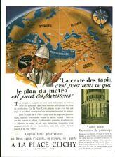 Publicité ancienne tapis place Clichy 1948 issue de magazine