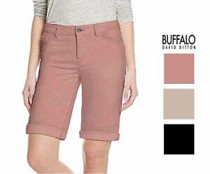 Buffalo David Bitton Womens Cuffed Bermuda Shorts