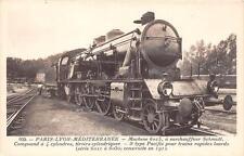 CPA THEME TRAIN PARIS LYON MEDITERANNEE MACHINE N°6015 SCHMIDT PACIFIC TRAINS RA