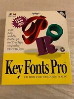 Vintage Key Fonts Pro CD-ROM Software Windows 3.1 Mac 1994 Softkey - Sealed CD