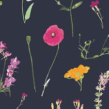 Art Gallery ~ Lavish Petal Picking Dense Fabric / quilting dressmaking navy blue