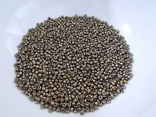 50g 2mm 11/0 Glass Seed Beads - METALLIC COPPER BROWN
