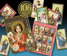 106 SCHÖNE ALTE KOMMUNION HEILIGENBILDCHEN JESUS MARIA ENGEL 30er 2 SCHÖNE TÜTEN