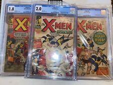 Marvel Silver Age X-Men #1 #2 #3 - All 3 Graded CGC - Stan Lee Jack Kirby KEY