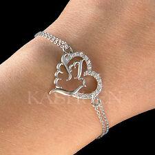 made with Swarovski Crystal Bracelet Jewelry ~Pigeon Heart~ Peace Dove Love Bird