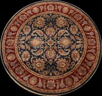 Floral Agra Traditional Oriental Area Rug Hand-knotted Wool Carpet 6x6 Round