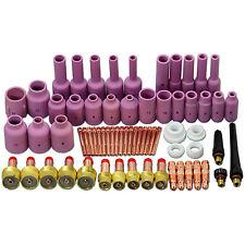 TIG Gas Lens Back Cap Collet Body Kits Fit TIG Welding Torch WP 17 18 26 67pcs